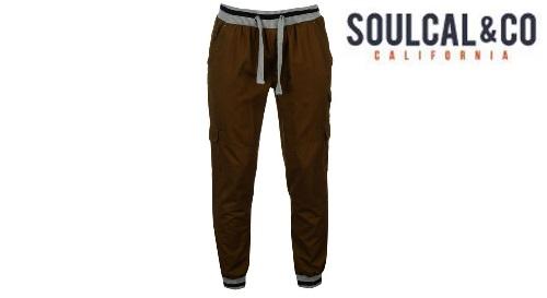 """Masinis.lt - PREKĖ SANDĖLYJE! Vyriškos, tamsiai rudos spalvos, M dydžio """"SoulCal"""" kelnės už puikią kainą!"""