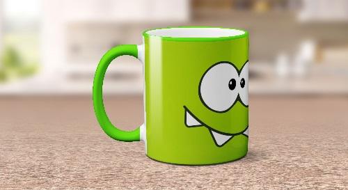"""Masinis.lt - Itin kokybiškas, keramikinis """"Omnom"""" puodelis! Jūsų išskirtinis puodelis!"""