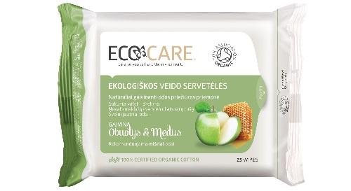 """Masinis.lt - Medvilninės, ekologiškos, higieninės servetėlės veidui """"ECOCARE"""", obuolys ir medus! Gražiai ir sudrėkintai veido odai!"""