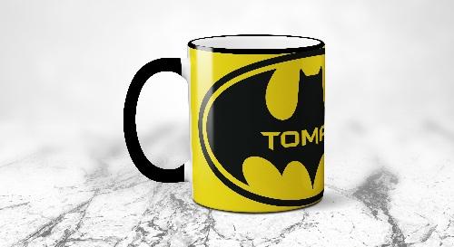 """Masinis.lt - Itin kokybiškas, keramikinis """"Batman"""" puodelis! Išskirtinis puodelis su Jūsų vardu!"""