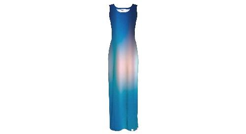 Masinis.lt - SANDĖLYJE! Ryškiais piešiniais marginta, maxi ilgio moteriška suknelė, 3XL-4XL dydis (5902982128800)!
