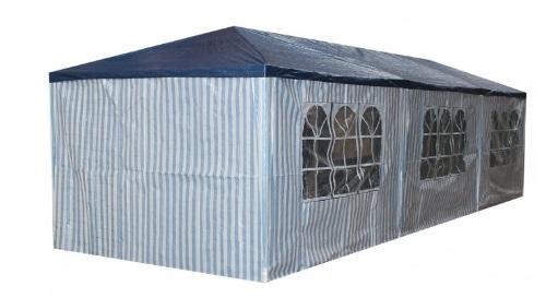 Masinis.lt - Mėlynos/baltos spalvos, lengvai pastatoma, didelė lauko pavėsinė atspari lietui (127329836)!
