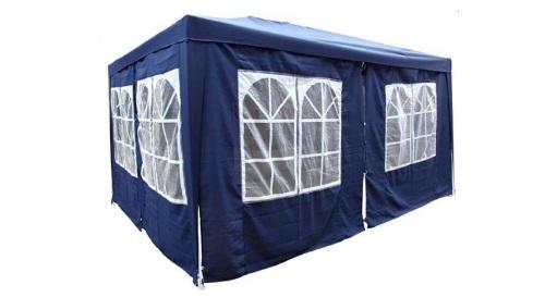 Masinis.lt - Mėlynos spalvos, lengvai pastatoma, lauko pavėsinė atspari lietui, 3 x 4 m (122051803)!