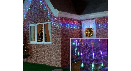 Masinis.lt - Ruoškimės artėjančioms šventėms! 100 LED lempučių girlianda - varveklis, įvairiaspalvė, su mirksėjimo režimais!