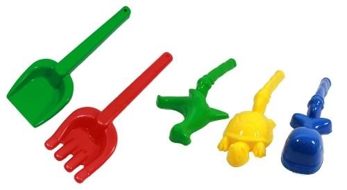 Masinis.lt - IŠPARDAVIMAS - PREKĖS SANDĖLYJE! Spalvingas vaikiškų žaislų rinkinys nuotaikingiems žaidimams smėlio dėžėje!