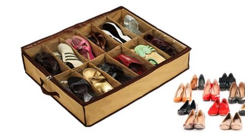 """Masinis.lt - SANDĖLYJE!Batų ir kitų daiktų laikymo dėžė """"Under shoes"""" su 12 skyrelių!"""