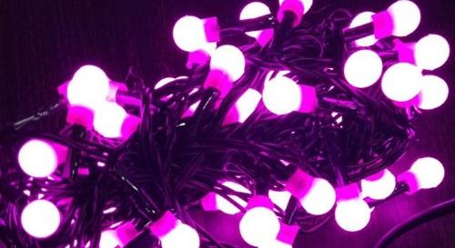 Masinis.lt - SANDĖLYJE! IŠPARDAVIMAS! Geltonos spalvos, 100 LED girlianda - burbuliukai už puikią kainą (CL-027Y)!