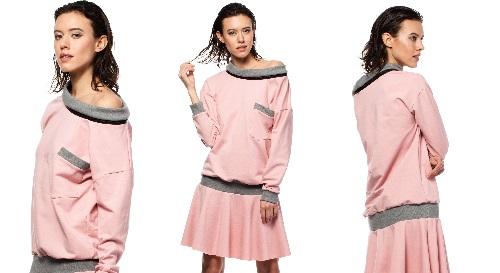 Masinis.lt - PREKĖ SANDĖLYJE-PUOŠKIMĖS! Rožinės spalvos, laisvalaikio suknelė už puikią kainą, M dydis (BW003)!