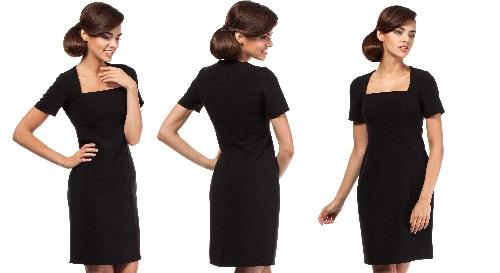 Masinis.lt - PREKĖ SANDĖLYJE! Atsinaujinkite šaltajam sezonui! Itin kokybiška, su VILNA, elegantiška, juodos spalvos, XL dydžio suknelė už viliojančią kainą (MOE192)!