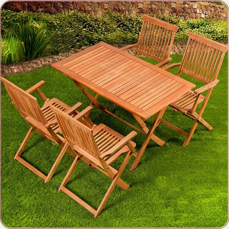 Mediniai lauko baldai akcija internetu - Mesas y sillas para jardin ...